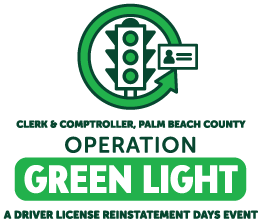 Clerk & Comptroller, Palm Beach County Operation Green Light stacked logo