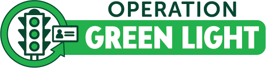 Operation Green Light logo with green traffic light