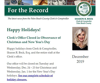 For the Record – December 2019