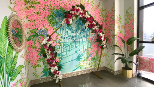 Lilly Pulitzer-designed marriage room